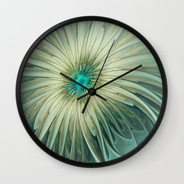 Emotions of a Flower, Abstract Fractal Art Wall Clock