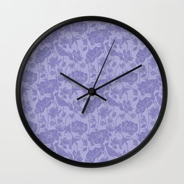 Lotus flowers and kingfishers Wall Clock