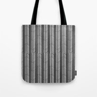 herringbone Tote Bags featuring Herringbone Stripe by Project M