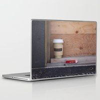 cigarettes Laptop & iPad Skins featuring Cigarettes and coffee by RMK Creative