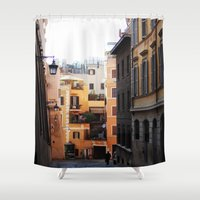 rome Shower Curtains featuring Rome by Anya Kubilus