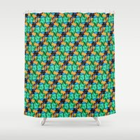 lizard Shower Curtains featuring Lizard by Canelica