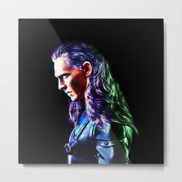 Loki - A Study In Perfection III Version Two Metal Print