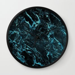 Black & Teal Color Marble Wall Clock