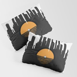 Vinyl City Pillow Sham