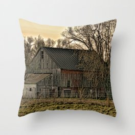 Winter's Shelter Throw Pillow