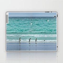 Falkland Island Seascape with Penguins Laptop & iPad Skin