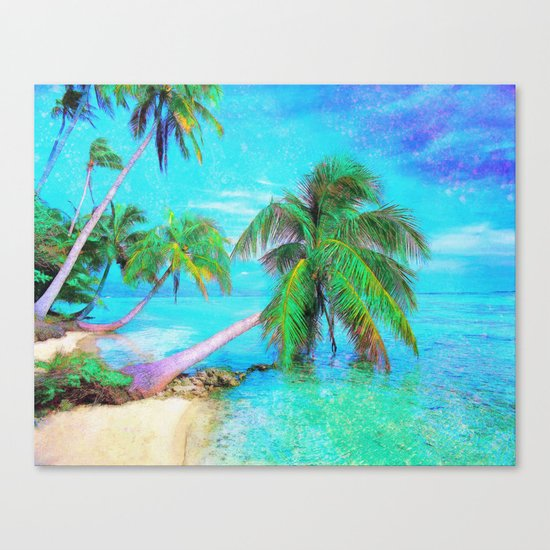Palms on the Bay Canvas Print