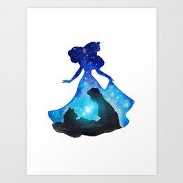 Sleeping Beauty Double Exposure Art Print