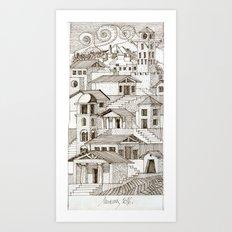 Architectural fantasy_3 Art Print