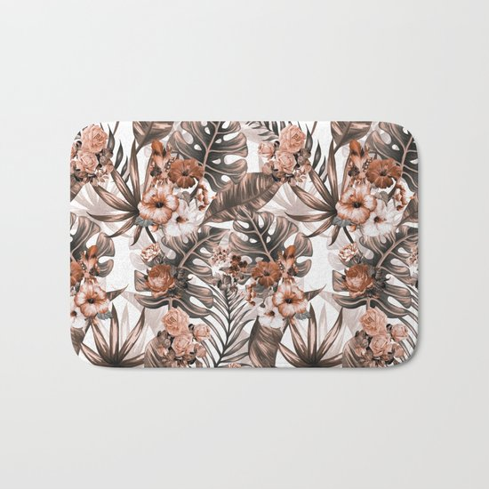 Tropical Pattern Bath Mat