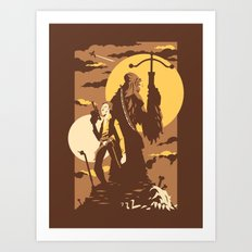 The Scoundrel & The Wookie Art Print