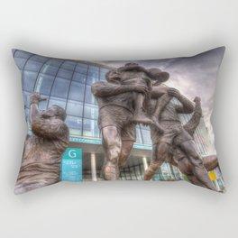 Rugby League Legends statue Wembley stadium Rectangular Pillow