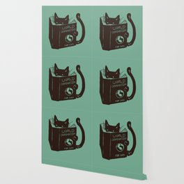 World Domination for Cats (Green) Wallpaper