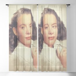 Susan Peters, Vintage Actress Sheer Curtain