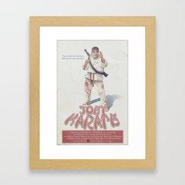 Joey Karate Framed Art Print