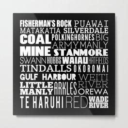 Hibiscus Coast - Version Three Metal Print