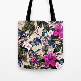 Pattern antique botanical flowers Tote Bag