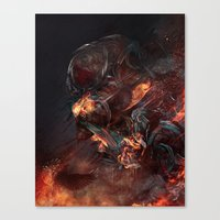 atheist Canvas Prints featuring Thoughts of A Dying Atheist by Matteus Faria
