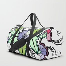 Abstract floral background Duffle Bag