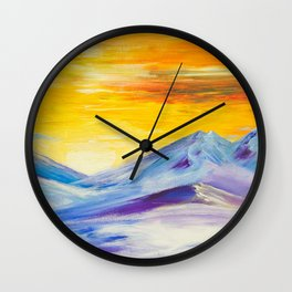 Daybreak Meditations of Hope by Ainé Daveéd Wall Clock