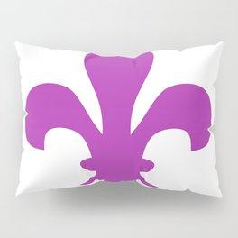 Fleur de Lis (Purple & White) Pillow Sham