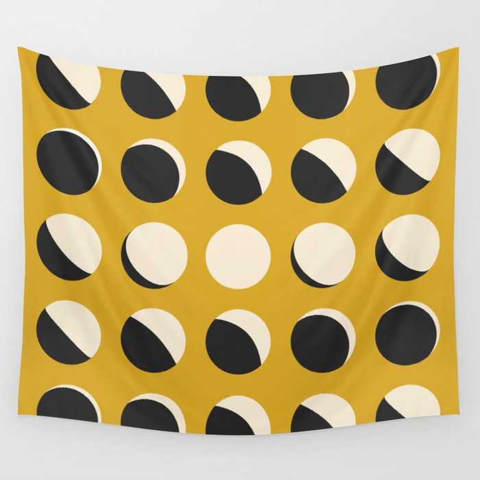 Moon Phased in Honey Wall Tapestry