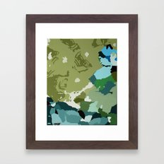 You should stay down there Framed Art Print