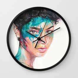 express (girl with paint) Wall Clock