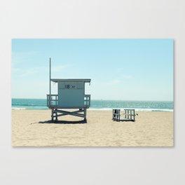 Manhattan Beach Lifeguard Tower Canvas Print