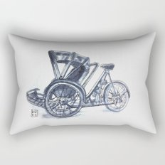 rickshaw bike Rectangular Pillow