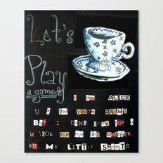 Let's Play A Game Canvas Print