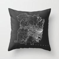 sydney Throw Pillows featuring SYDNEY by Nicksman