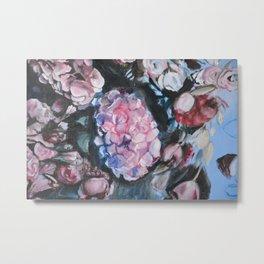 Hydrangea flower painting Metal Print