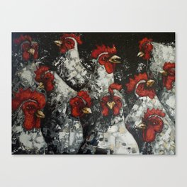 Across a crowded room Canvas Print