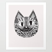 cheshire cat Art Prints featuring  CHESHIRE CAT by Vasare Nar