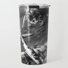 B-17 Bomber Over Germany Painting Travel Mug