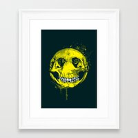 be happy Framed Art Prints featuring happy by Steven Toang