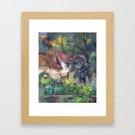 Paul Cézanne House of Père Lacroix Framed Art Print