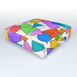 Digital Patchwork Outdoor Floor Cushion