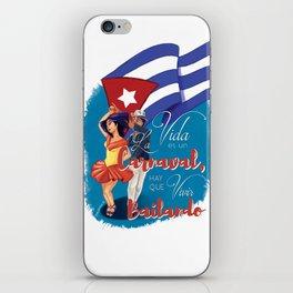 Cuban Carnaval Dancing iPhone Skin