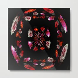 Red Roses in the Round Metal Print