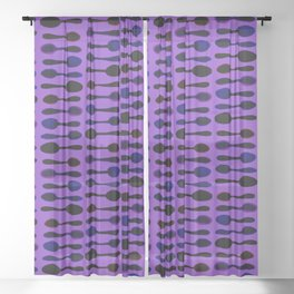 Purple Spoon Print! Sheer Curtain