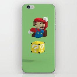 Voxel Mario iPhone Skin