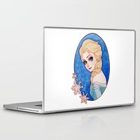 frozen elsa Laptop & iPad Skins featuring Elsa - Frozen by Naineuh