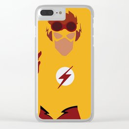Wally West Minimalism Clear iPhone Case