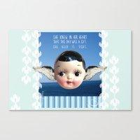 glee Canvas Prints featuring ocean glee  by Kelli May-Krenz