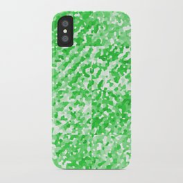 Green Delight (Squares) iPhone Case