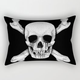 Jolly Roger Pirate Skull Flag Rectangular Pillow