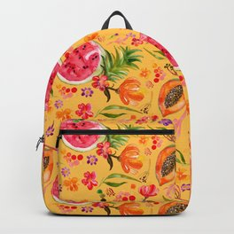 Tropical Fruit Festival in Yellow | Frutas Tropicales en Amarillo Backpack